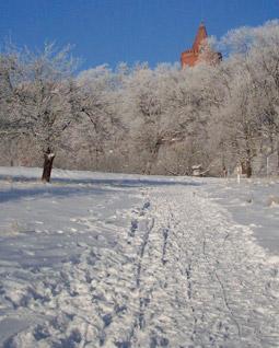 Winterwanderung um Burg Stargard